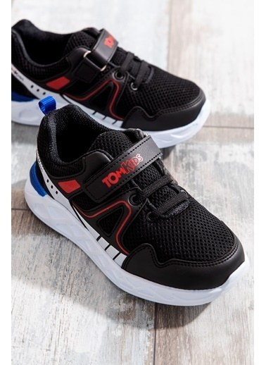 Tonny Black Siyah Beyaz Kırmızı Çocuk Spor Ayakkabı Tb3401-3 Siyah